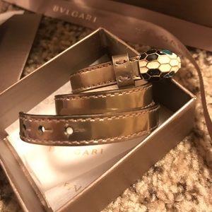 Bulgari Serpenti Leather Double wrap bracelet